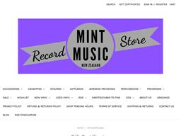 Mint Music gift card balance check