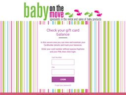 Baby On The Move gift card balance check