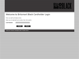 Britomart Black gift card balance check