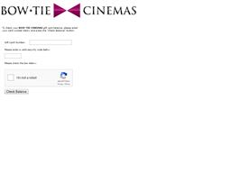 Bow Tie Cinemas gift card balance check