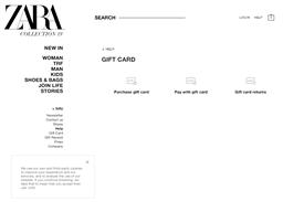 Zara NZ gift card purchase