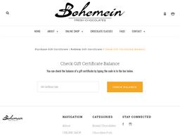 Bohemein Fresh Chocolate gift card balance check