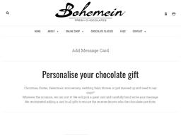 Bohemein Fresh Chocolate gift card purchase