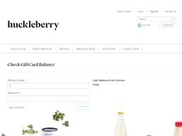 Huckleberry Farms gift card balance check