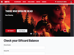 Hoyts Cinemas gift card balance check