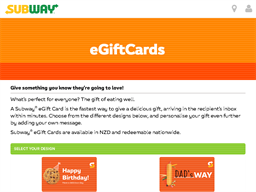 Subway eGift Card gift card purchase