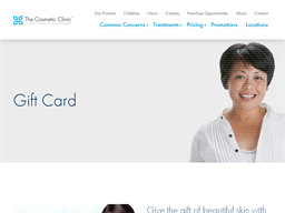 The Cosmetic Clinic gift card purchase