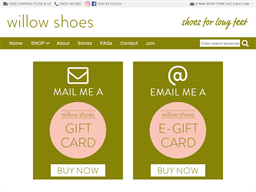 Willow Shoes gift card balance check