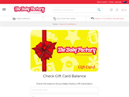 Baby Factory gift card balance check