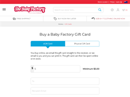 Baby Factory gift card purchase