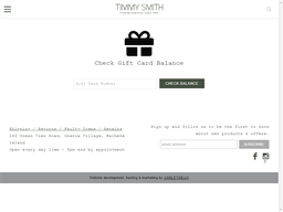 Timmy Smith gift card balance check