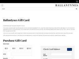 Ballantynes gift card balance check
