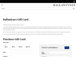 Ballantynes gift card purchase