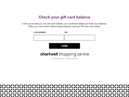 Chartwell Shopping Centre gift card balance check