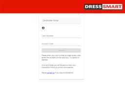 Dress Smart gift card balance check
