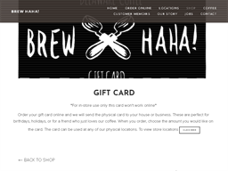 Brew HaHa gift card purchase