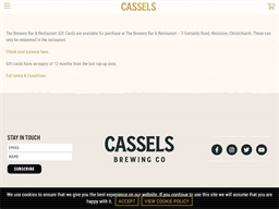 Cassels and Sons Brewing gift card purchase