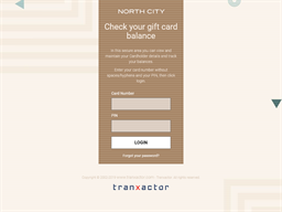 North City gift card balance check