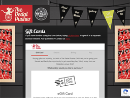 The Pedal Pusher gift card purchase