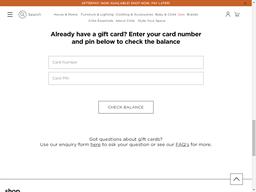 Citta gift card balance check