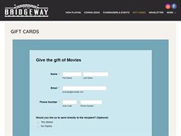 Bridgeway gift card purchase