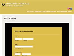 Monterey Cinemas Howick gift card purchase