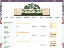 Scorpio Books gift card purchase