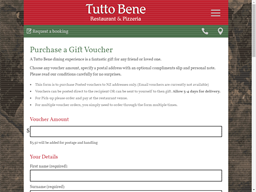 Tutto Bene gift card purchase