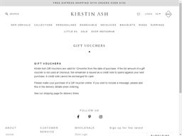 Kirstin Ash NZ gift card purchase