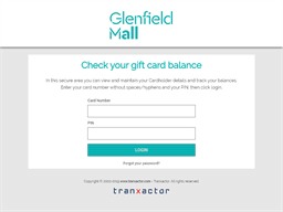 Glenfield Mall gift card balance check