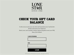 Lone Star gift card balance check