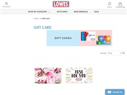 Lowes NZ gift card purchase