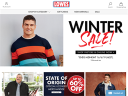 Lowes NZ shopping