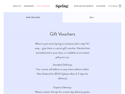 Spring Spa gift card purchase