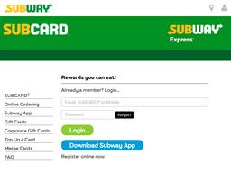 Subway gift card balance check
