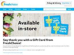 Fresh Choice gift card purchase