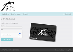The Palms gift card balance check
