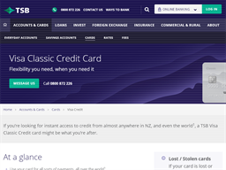 Visa Classic Credit Card TSB gift card purchase