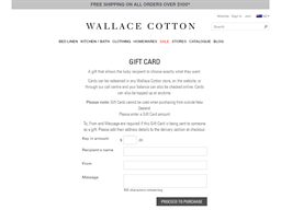 Wallace Cotton gift card purchase