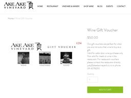 Ake Vineyard gift card purchase