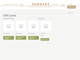 Tannery Restaurant gift card balance check