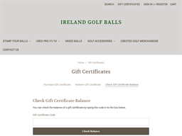 Ireland Golf Balls gift card balance check