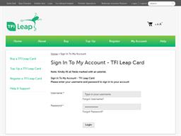 Irish Rail Leap Card gift card balance check