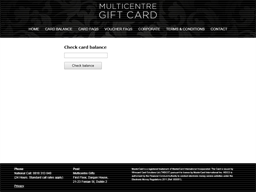 Manor West gift card balance check