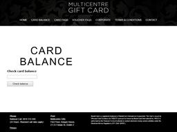Multi Centre gift card balance check