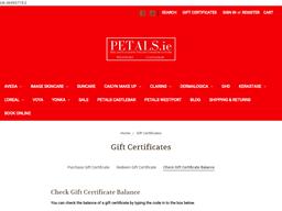 Petals gift card balance check