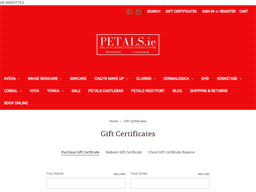 Petals gift card purchase