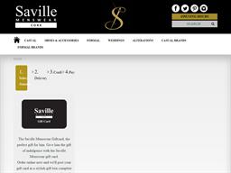 Saville Menswear gift card purchase