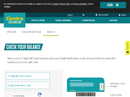 Centra gift card balance check