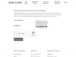 River Island gift card balance check